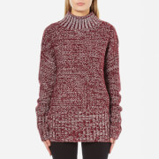 MINKPINK Women's Perfect Timing Skivvy Sweatshirt - Wine Marle - M
