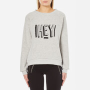 MINKPINK Women's Hey There Embroidered Sweatshirt - Grey Marle