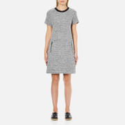 Karl Lagerfeld Women's Bonded Tweed Jersey Dress - Grey Melange