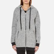 Karl Lagerfeld Women's Bonded Tweed Jersey Hoody - Grey Melange - L