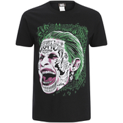 Suicide Squad Men's Joker Head T-Shirt - Schwarz