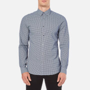 Michael Kors Men's Slim Fit Baron Long Sleeve Shirt - Navy