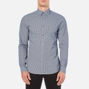 Michael Kors Men's Slim Fit Baron Long Sleeve Shirt - Navy