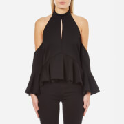 C/MEO COLLECTIVE Women's Too Close Top - Black - L/UK 12