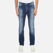 Versace Collection Men's Pocket Logo 5 Pocket Jeans - Bluette