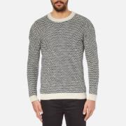Selected Homme Men's Hoxton Crew Neck Knitted Jumper - Vintage Khaki/Blueberry