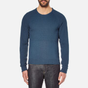 Universal Works Men's Raglan Crew Neck Jumper - Blue