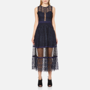 Three Floor Women's Narcissa Dress - Midnight Blue/Black - UK 6 - Blue/Black
