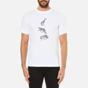 PS by Paul Smith Mens Crew Neck Short Sleeve Animal Logo TShirt  White  XXL