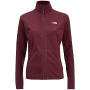The North Face Women's 100 Glacier Full Zip Fleece - Deep Garnet Red