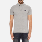 Superdry Men's Classic Pique Short Sleeve Polo Shirt - Grey Marl