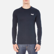 Superdry Men's Orange Label Long Sleeve Top - Eclipse Navy