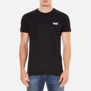 Superdry Men's Orange Label Vintage Embroidered T-Shirt - Black
