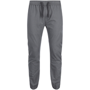 Brave Soul Men's Fine Cuffed Chinos - Grey