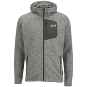Jack Wolfskin Men's Caribou Lodge Mid Layer Fleece Jumper - Light Grey