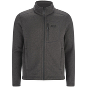 Jack Wolfskin Men's Caribou Track Mid Layer Fleece Jumper - Dark Steel