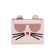 Karl Lagerfeld Women's K/Kocktail Choupette Big Pouch - Sea Shell