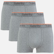 Superdry Men's Orange Label Triple Pack Boxer Shorts - Dark Marl