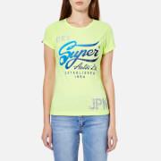 Superdry Women's Autos Entry T-Shirt - Lemon Drop Slub