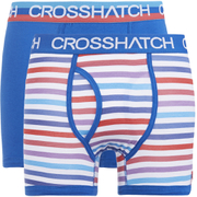 Crosshatch Men's Refraction 2-Pack Boxers - Classic Blue