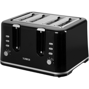 Tower T20010 4 Slice Toaster - Black