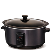 Morphy Richards Black Sear and Stew Slow Cooker 3.5L - Stainless Steel