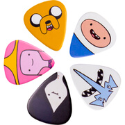 Image of Adventure Time Character Guitar Plectrums (Set of 5)