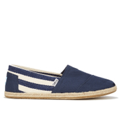 TOMS Men's University Classics Slip-On Pumps - Navy Stripe