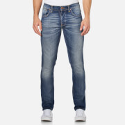 Nudie Jeans Men's Grim Tim Straight/Slim Fit Jeans - Dark Crispy Worn