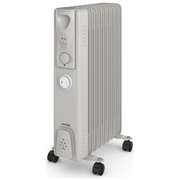 Warmlite WL43004Y 2000W Oil Filled Radiator - Silver