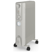 Warmlite WL43004YT 2000W Oil Filled Radiator with Timer - Silver