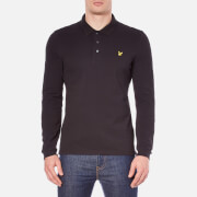 Lyle & Scott Men's Long Sleeve Polo Shirt - Black