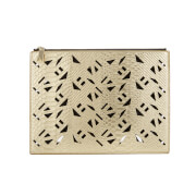 KENZO Women's Essentials Mini A4 Pouch - Gold
