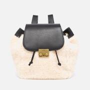 UGG Women's Vivienne Sheepskin Backpack - Black and Natural