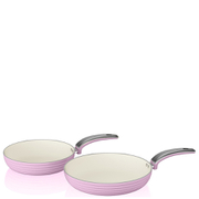Swan Retro Frying Pans - Pink (20cm/28cm)