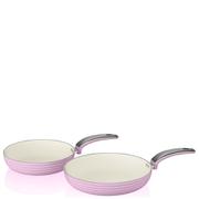 Swan Retro Frying Pans - Pink (20cm/28cm)