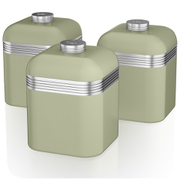 Swan Retro Canisters - Green (Set of 3)