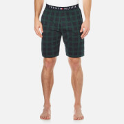 Tommy Hilfiger Men's Icon Jersey Printed Pyjama Shorts - Peacoat