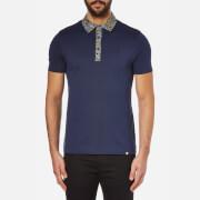 Pretty Green Men's Stretford Paisley Collar Polo Shirt - Navy