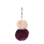 Ted Baker Womens Renah Fur Bag Charm  Nude Pink