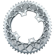 AbsoluteBLACK Shimano 5 Bolt Oval Road Chainring - 50T - 5 Bolt 110BCD - Grey