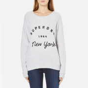 Superdry Women's Applique Raglan Crew Neck Sweatshirt - Ice Marl