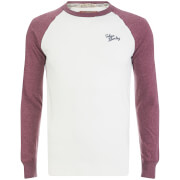 Tokyo Laundry Men's Fremont Cove Raglan Long Sleeve Top - Bordeaux Marl