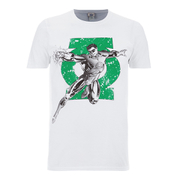 DC Comics Mens Green Arrow Punch T-Shirt - Wit