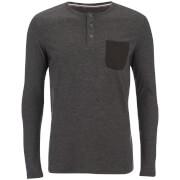 Haut Produkt pour Homme Contrast Pocket -Noir Melangé