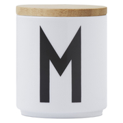 Design Letters Wooden Lid For Porcelain Cup - Wood