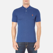 Polo Ralph Lauren Mens Short Sleeve Custom Fit Polo Shirt  Beach Royal Heather  M