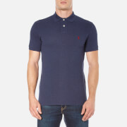 Polo Ralph Lauren Mens Short Sleeve Custom Fit Polo Shirt  Navy Heather  L