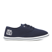 Henleys Mens Stash Canvas Pumps  Navy  UK 6