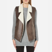 French Connection Women's Winter Rhoda Gilet - Indian Tan - M